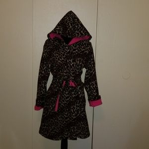Betsey Johnson Leopard Print Fleece Robe